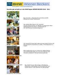 Das alles gab und gibt es in der BHW Region WIENER BECKEN 2010