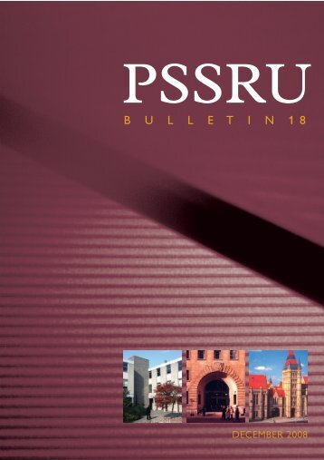 PSSRU Bulletin 18, December 2008 - School of Nursing, Midwifery ...