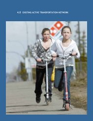 4.0 existing active transportation network - City of Prince George