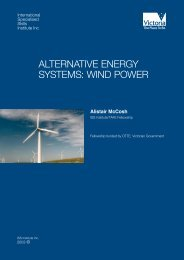 alternative energy systems: wind power - International Specialised ...
