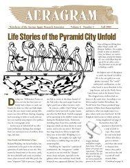 Fall 2003 - Ancient Egypt Research Associates
