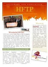 Wonderful HITEC - School of Hotel & Tourism Management - The ...