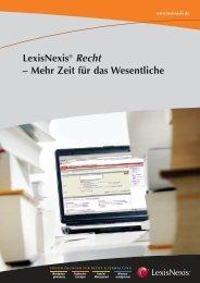 LexisNexis® Recht – Mehr Zeit für das Wesentliche