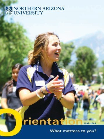 What matters to you? - www4 - Northern Arizona University