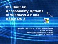 Acrobat Version - Delaware Center For Educational Technology