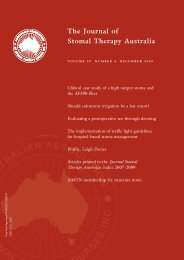 JSTA December 2009 - Australian Association of Stomal Therapy ...