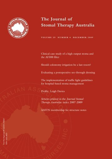 JSTA December 2009 - Australian Association of Stomal Therapy ...