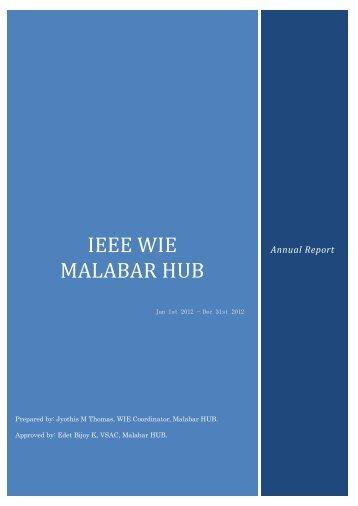 Malabar HUB WIE Annual Report 2012 - National Institute of ...