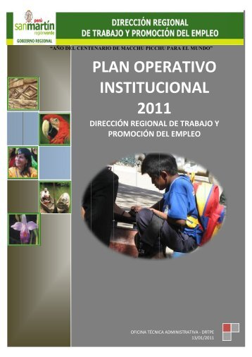 plan operativo institucional 2011 - Gobierno Regional de San Martín