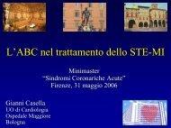L'ABC del trattamento dello STEMI - Anmco