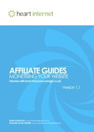 AFFILIATE GUIDES - Heart Internet