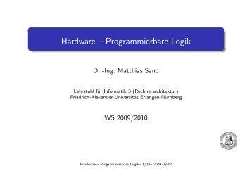 Hardware -- Programmierbare Logik - Friedrich-Alexander ...