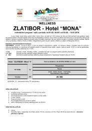 "ZLATIBOR - Hotel ""MONA"" - Jolly Travel"