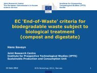 Waste criteria for compost and digestate - European ...