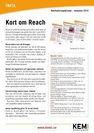 Faktablad - Kort om Reach - Kemikalieinspektionen