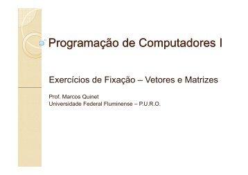 Programação de Computadores I - Lista de Exercícios 2