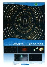 Lichteffekte Prospekt - Klarer Freizeitanlagen AG