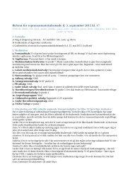 Referat for repræsentantskabsmøde d. 3. september 2012 ... - fadl.dk