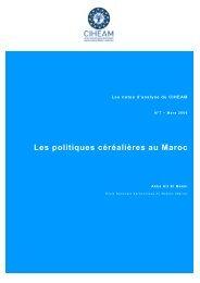 Les politiques céréalières au Maroc