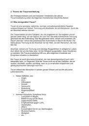 2. Theorie der Trauerverarbeitung Als Hintergrundwissen und zum ...