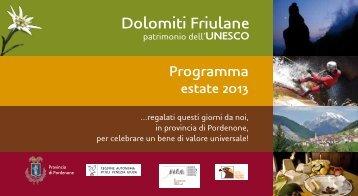 Estate nei Comuni delle Dolomiti Friulane - Provincia di Pordenone