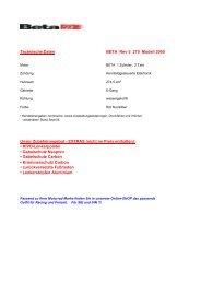 Technische Daten BETA Rev-3 270 Modell 2005 ... - Kivo Trialcenter