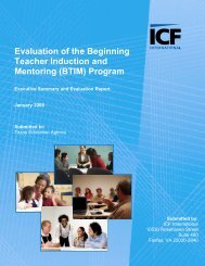Evaluation of the Beginning Teacher Induction and Mentoring (BTIM ...