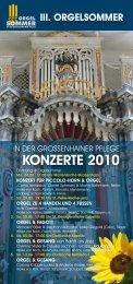 GRH Orgelsommer_2010 Flyer - Kirchspiel Großenhainer Land