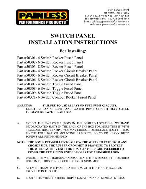 painless performance wiring diagram water pump view pdf painless wiring  view pdf painless wiring
