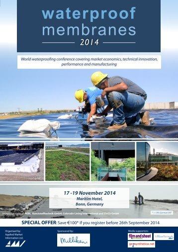Waterproof Membranes 2014 Programme