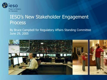 Update on IESO's New Stakeholder Engagement Process and ...