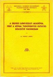 a selmeci bányászati akadémia, mint a kémiai tudományos kutatás ...