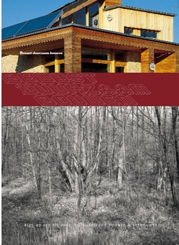 Brochure 'bewust duurzaam bouwen' - Vibe