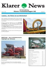 News Klarer Freizeitanlagen AG