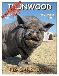 November 2011 Newsletter - Ironwood Pig Sanctuary