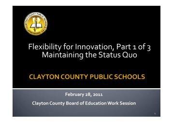 Status Quo - Clayton County Public Schools