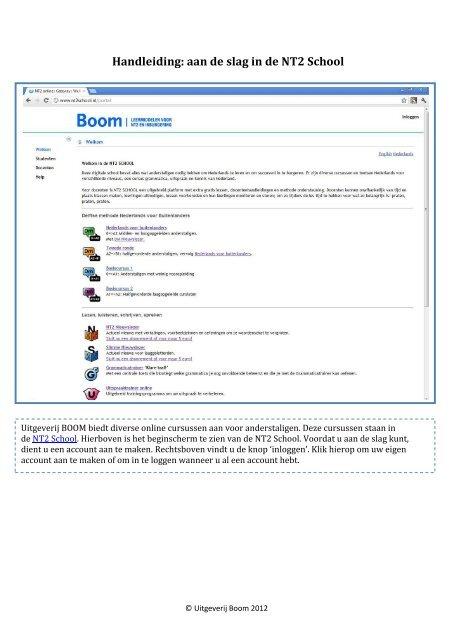handleiding: aan de slag in de nt2 school - nt2.nl