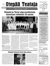 Otepää ja Tarpi sõprussidemete loomisest möödub 20 ... - Otepää vald