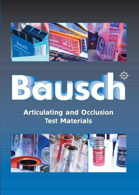 Bausch Articulating Papers - Janouch Dental