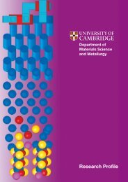 Research Profile - Department of Materials Science and Metallurgy ...