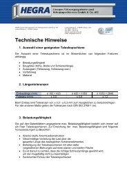 Technische Informationen - Hegra Linear GmbH