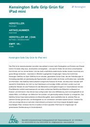 Kensington Safe Grip Grün für iPad mini HERSTELLER - MacLAND