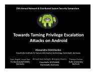 Towards Taming Privilege Escala(on AWacks on ... - Internet Society