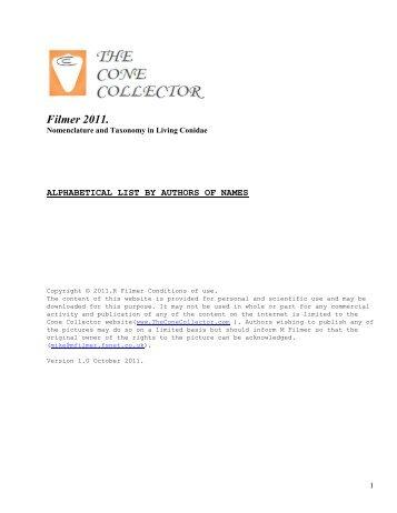 Filmer 2011. - The Cone Collector
