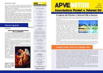 ApveNotizie Ottobre 2004 - associazione pionieri e veterani eni