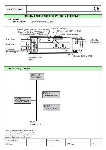 Dali usb computer interface between pc usb and dali wise chameleon dmxdali interface instructions mr resistor publicscrutiny Images
