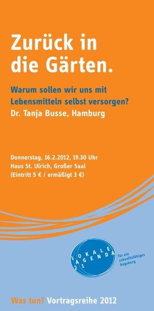 Was tun? - Nachhaltigkeit - Stadt Augsburg