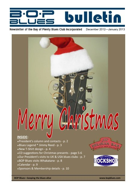 December - January 2013 - BOP Blues Club