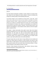 The fading paradox in teacher education and training policies - Europa