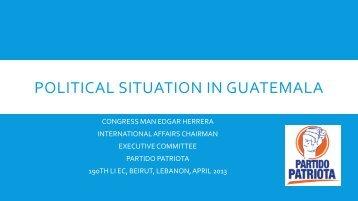 Country Report (Guatemala) - Liberal International